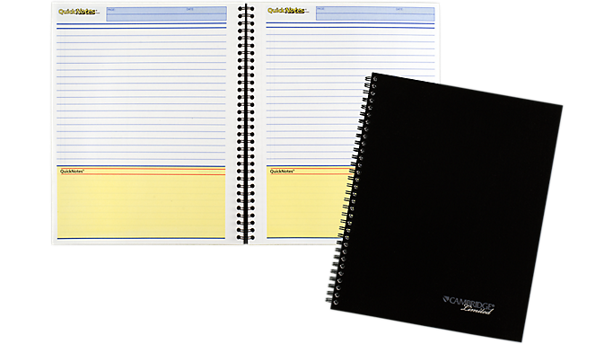 Mead cambridge limited business notebook quicknotes planner