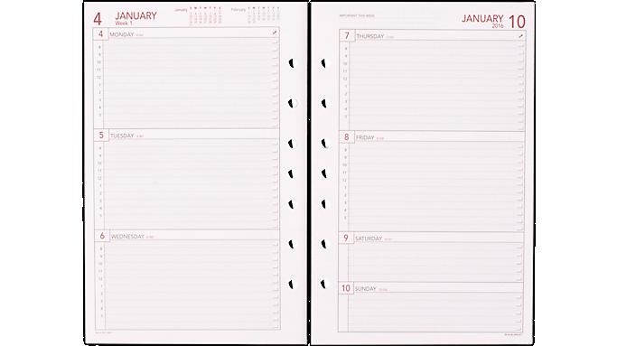 Weekly Calendar Planner Refills : Day runner weekly planner refills y
