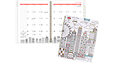Paint the Town Academic Monthly Planner, Large (1017-900A) (Item # 1017-900A)