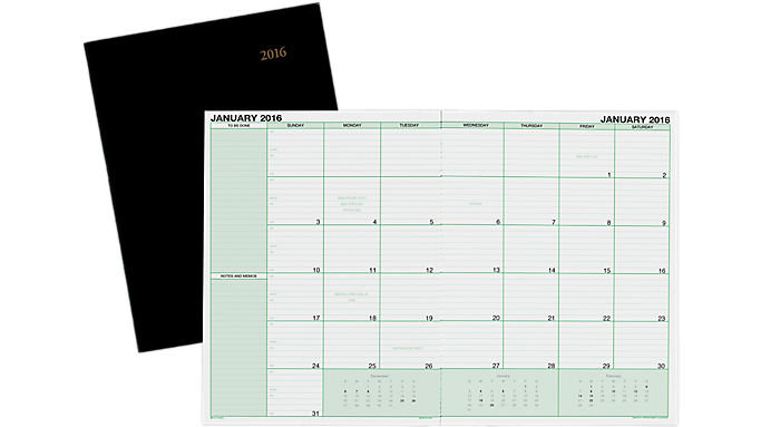Calendar Notebook 2016 : Day timer monthly desk appointment calendar