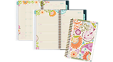 2016 - 2017 Garden Party Academic Weekly-Monthly Planner - Medium (150-201A_17) (Item # 150-201A_17)