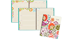 Garden Party Academic Weekly/Monthly Planner - Large (150-905A) (Item # 150-905A)