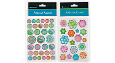 Adhesive Accents - Flowers/Designer Dots (212-01) (Item # 212-01)