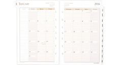 2016 Monthly Planner Refill (481-685Y_16) (Item # 481-685Y_16)
