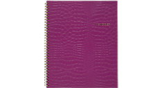 Cambridge Trucco Croc  Twin Wire Purple Notebook, 80 Sheets, LG (59024) (Item # 59024)