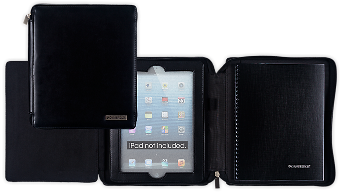 mead cambridge business notebook and deluxe black case for