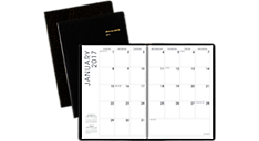 2017 Faux Croc Monthly Planner (70432_17) (Item # 70432_17)
