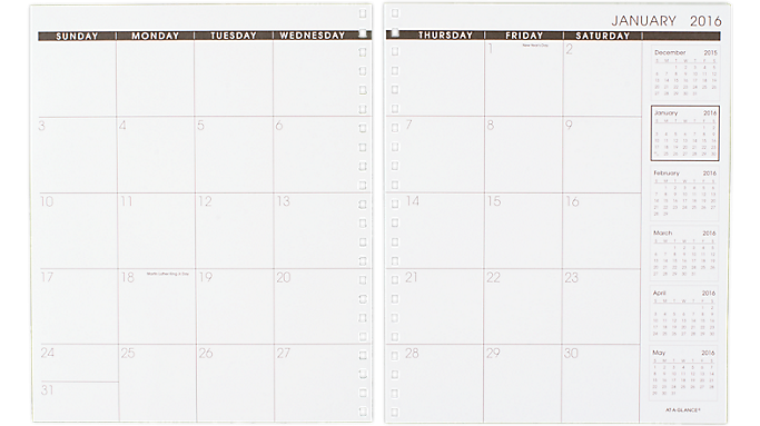 AT-A-GLANCE 2016 Monthly Planner Refill for 70-236 or 70