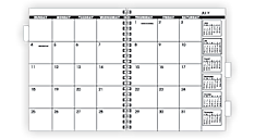 2019 Monthly Planner Refill for 70-236 or 70-296 (70923_19) (Item # 70923_19)