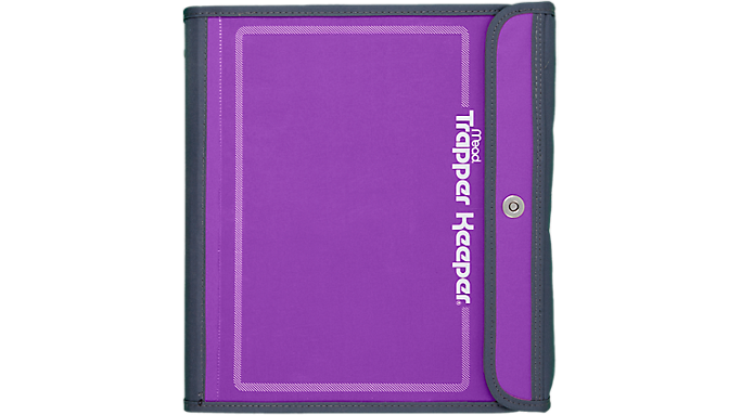 Trapper keeper 1 1 2 for Trapper keeper 2 sewn binder with exterior storage