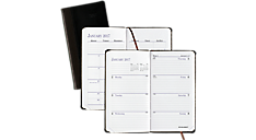 2017 Fine Diary® Leather Weekly/Monthly Planner - Small (7402_17) (Item # 7402_17)