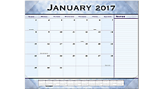2017 Slate Blue Monthly Desk Pad (89701_17) (Item # 89701_17)