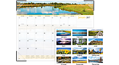 2017 Landscape Panoramic Monthly Desk Pad (89802_17) (Item # 89802_17)