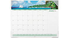 2016 Recycled Seascape Panoramic Monthly Desk Pad (89803_16) (Item # 89803_16)