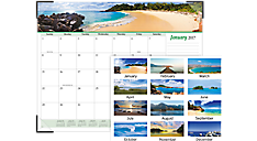 2017 Seascape Panoramic Monthly Desk Pad (89803_17) (Item # 89803_17)