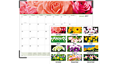 2017 Floral Panoramic Monthly Desk Pad (89805_17) (Item # 89805_17)