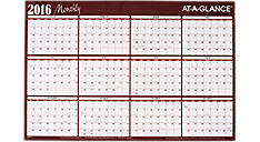 2016 Horizontal Erasable Wall Calendar (A102_16) (Item # A102_16)