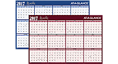 2017 Horizontal Erasable Wall Calendar (A102_17) (Item # A102_17)