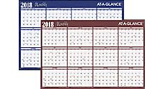 Horizontal Erasable Wall Calendar (A102) (Item # A102)