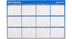2016 2-Sided Erasable Wall Calendar (A1102_16) (Item # A1102_16)