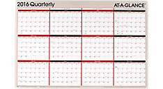 2016 2-Sided Erasable Wall Calendar (A123_16) (Item # A123_16)