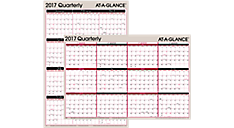 2017 2-Sided Erasable Wall Calendar (A123_17) (Item # A123_17)