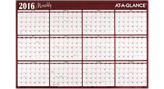2016 XL 2-Sided Horizontal Erasable Wall Calendar (A152_16) (Item # A152_16)