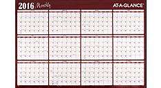 2016 XL 2-Sided Horizontal Erasable Wall Calendar (A152_16) (Item # A152_16)