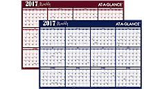 2017 XL 2-Sided Horizontal Erasable Wall Calendar (A152_17) (Item # A152_17)