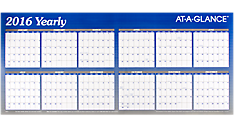 2016 XL Horizontal Erasable Wall Calendar (A177_16) (Item # A177_16)