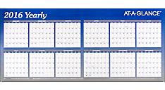 2016 XL Horizontal Erasable Wall Calendar (A177_16) (Item # A177_16)