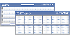 2017 XL Horizontal Erasable Wall Calendar (A177_17) (Item # A177_17)