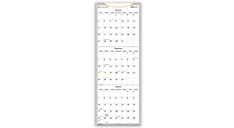 2016 Quarterly Self-Adhesive Dry Erase Wall Planner (AW6062_16) (Item # AW6062_16)