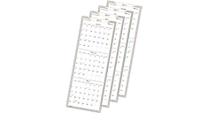 2017 WallMates Quarterly Dry Erase Wall Planner (AW6062_17) (Item # AW6062_17)