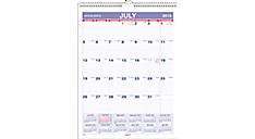 2015-2016 Small Academic Monthly Wall Calendar (AY1_16) (Item # AY1_16)