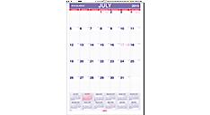 2015-2016 XL Academic Monthly Wall Calendar (AY3_16) (Item # AY3_16)