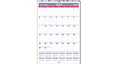 Academic Plan-A-Month Wall Calendar (AY3) (Item # AY3)