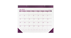 2015 - 2016 Color Play Academic Monthly Desk Pad (AYCP24_16) (Item # AYCP24_16)