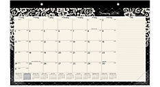 2016 Lacey Compact Monthly Desk Pad (D141-705_16) (Item # D141-705_16)