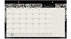 2017 Lacey Compact Monthly Desk Pad (D141-705_17) (Item # D141-705_17)