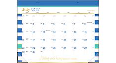 Color Pop Academic Monthly Desk Pad (D173-704A) (Item # D173-704A)