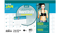 2017 Women's Health Compact Desk Pad (DDCD06_17) (Item # DDCD06_17)