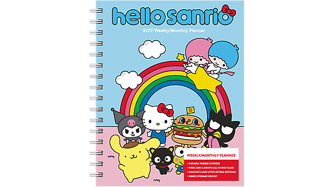 Day Dream 2017 Hello Kitty Weekly-Monthly Planner w- Tabs (DDEN04_17 ...