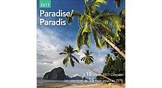 2017 Paradise Mini Bilingual (French-English) Calendar (DDMF45_17)  (Item # DDMF45_17)