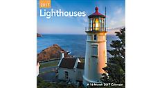 2017 Lighthouses Mini Wall Calendar (DDMN52_17) (Item # DDMN52_17)