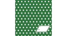 Green Stars Calendar Gift Envelope (DDV004) (Item # DDV004)