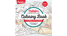 2017 Highlights Hidden Pictures Coloring Book Wall Calendar (DDW154_17) (Item # DDW154_17)
