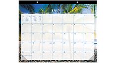 Tropical Escape Academic Monthly Desk Pad (DMATE2) (Item # DMATE2)