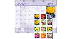 2017 Antique Floral Monthly Desk Pad (DMD135_17) (Item # DMD135_17)