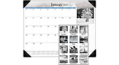 2017 Black and White Monthly Desk Pad (DMD162_17) (Item # DMD162_17)